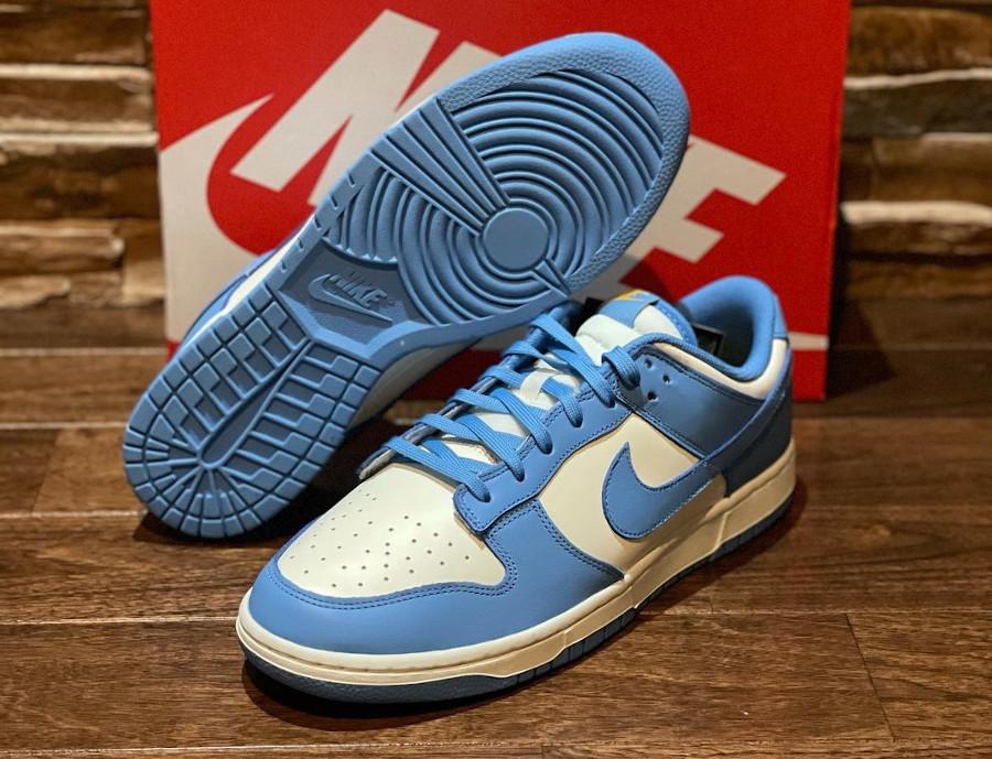 Nike Dunk Low 2021 blanche et bleu ciel (3)