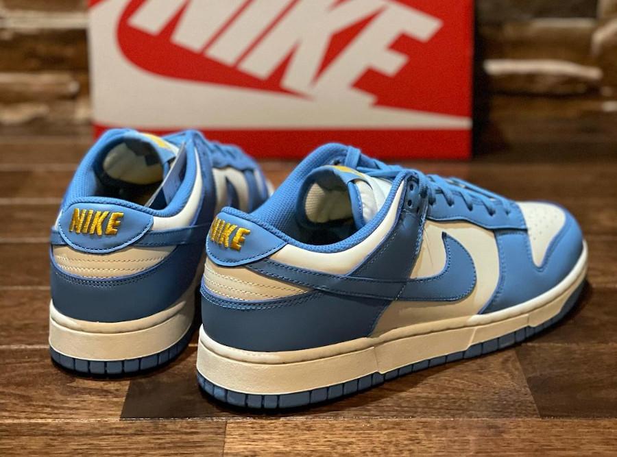 Nike Dunk Low 2021 blanche et bleu ciel (4)