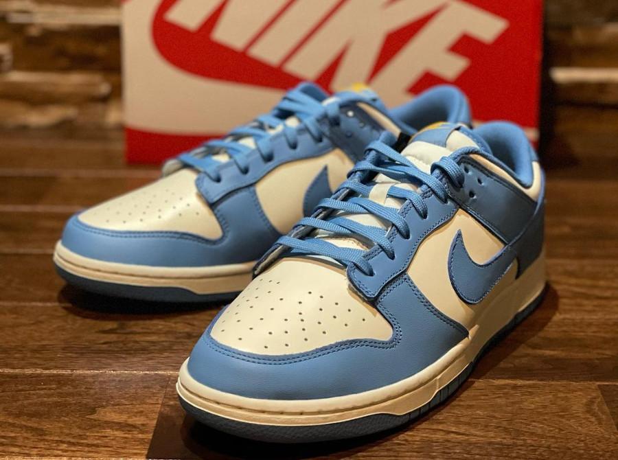 Nike Dunk Low 2021 blanche et bleu ciel (5)