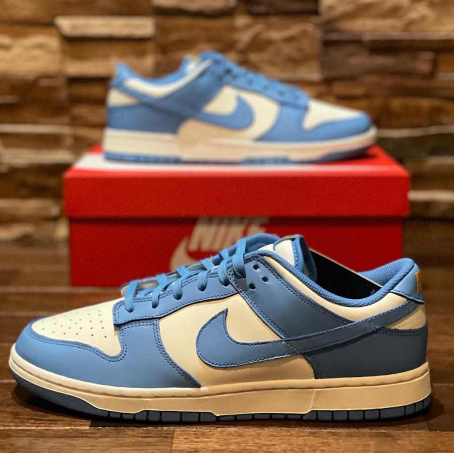 Nike Dunk Low 2021 blanche et bleu ciel (6)