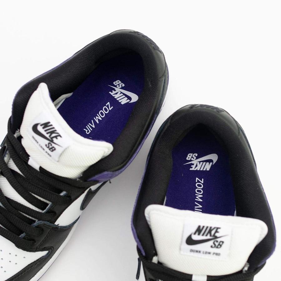 Nike Dunk Low Pro SB blanchet noir et violet (1)