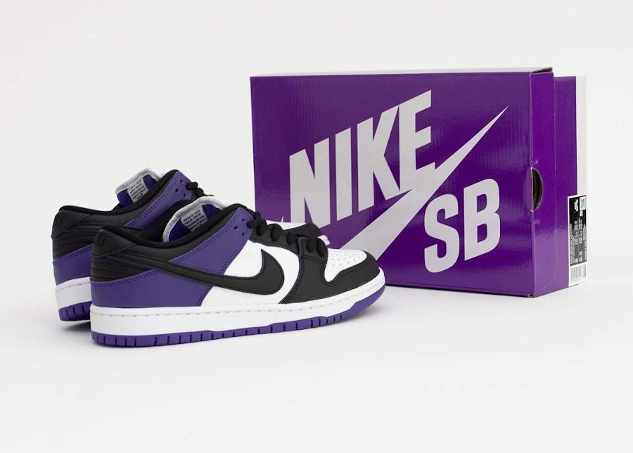 Nike Dunk Low Pro SB blanchet noir et violet (2)