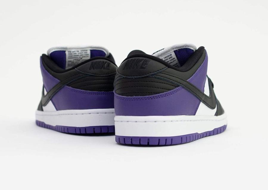 Nike Dunk Low Pro SB blanchet noir et violet (3)