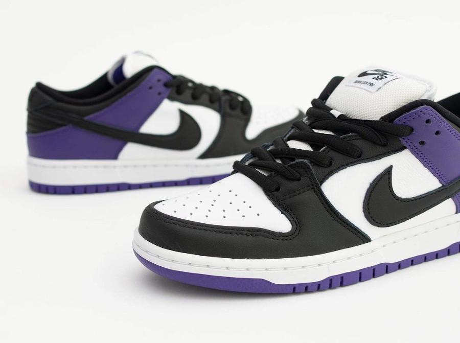 Nike Dunk Low Pro SB blanchet noir et violet (5)