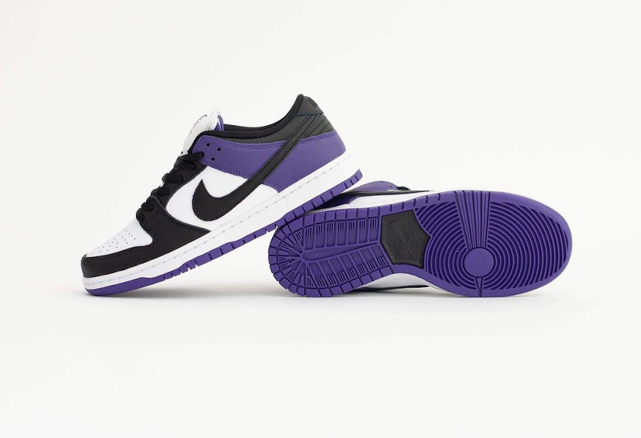 Nike Dunk Low Pro SB blanchet noir et violet (6)