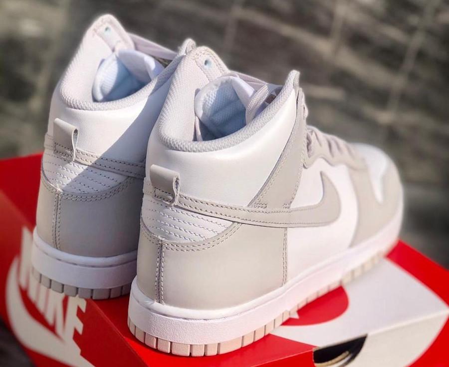 Nike Dunk montante blanche et grise (1)