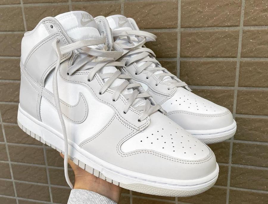 Nike Dunk montante blanche et grise (3)