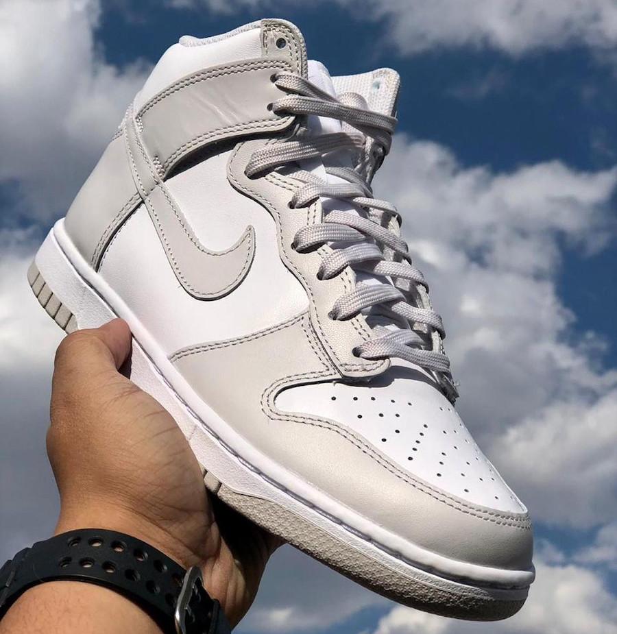 Nike Dunk montante blanche et grise (4)