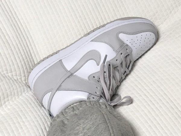Nike Dunk montante blanche et grise (5)
