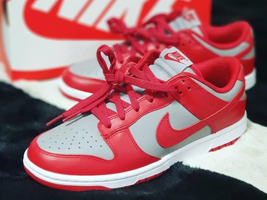 Nike Dunks Lo OG grise et rouge (6)