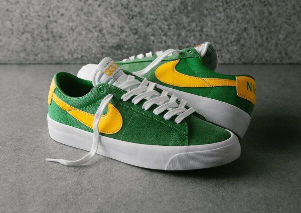 Nike SB Blazer Low Pro GT Green Yellow DC7695-300