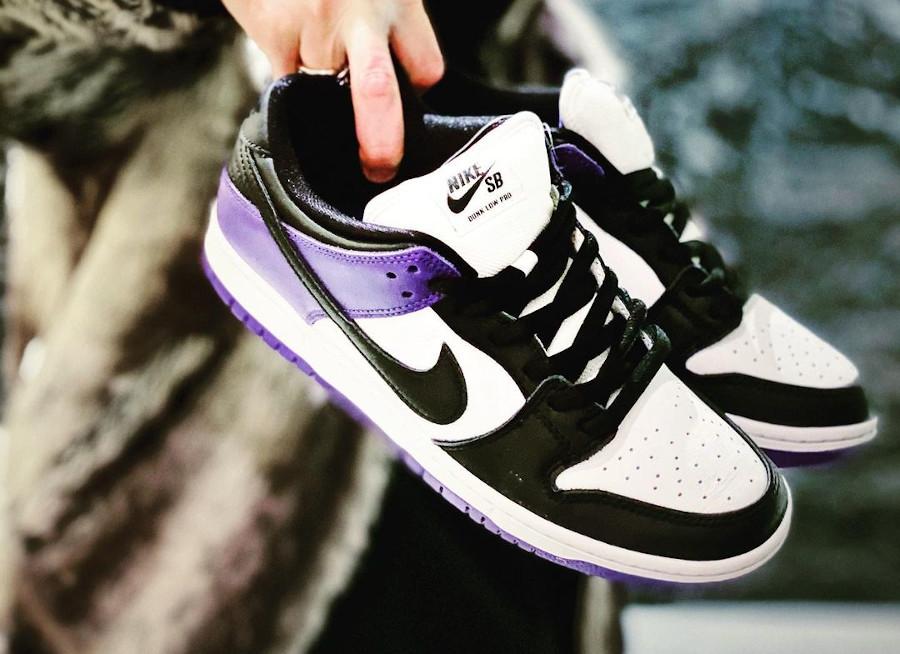 Nike SB Dunk Low Pro Court Purple Black Toe BQ6817-500