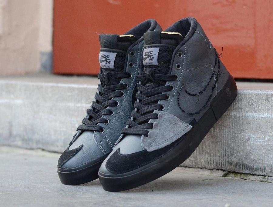 Nike Zoom Blazer SB Mid Edge gris et noir (1)