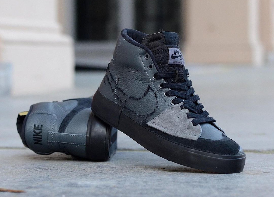 Nike Zoom Blazer SB Mid Edge gris et noir (2)