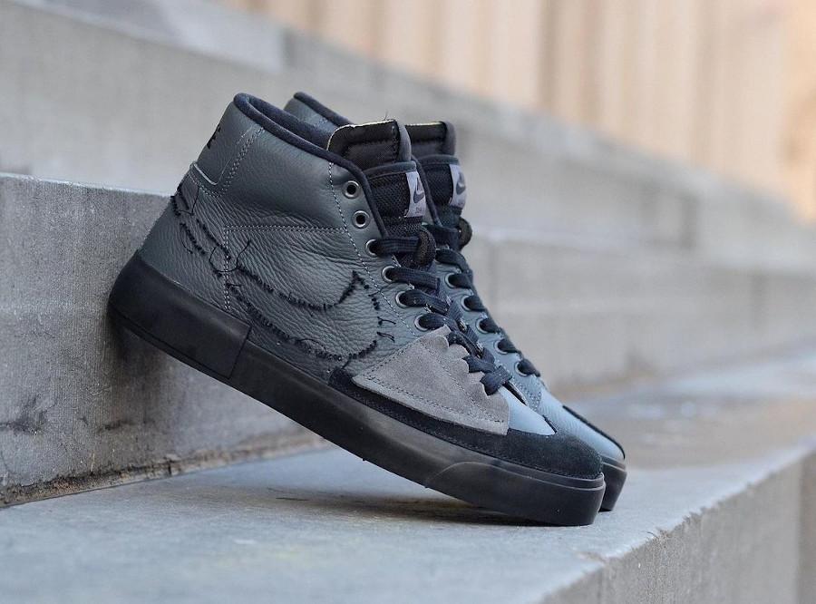 Nike Zoom Blazer SB Mid Edge gris et noir (3)
