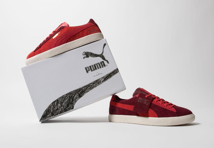 Puma-Suede-Vintage-Mismatched-rouge-et-bordeaux-1