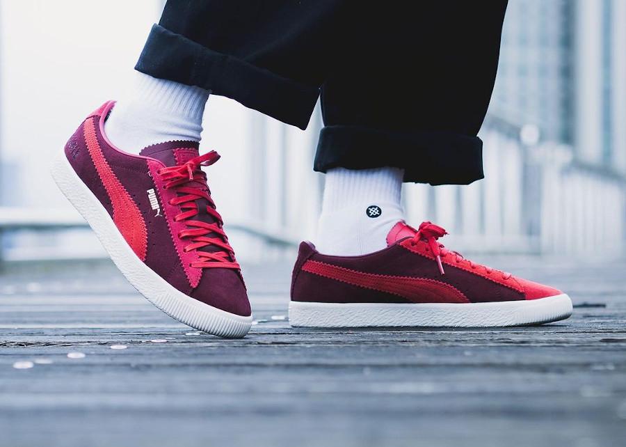 Puma-Suede-Vintage-Mismatched-rouge-et-bordeaux-on-feet (4)