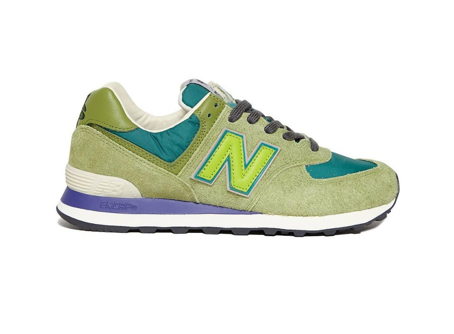 SR x New Balance 574 vert et violet (1)