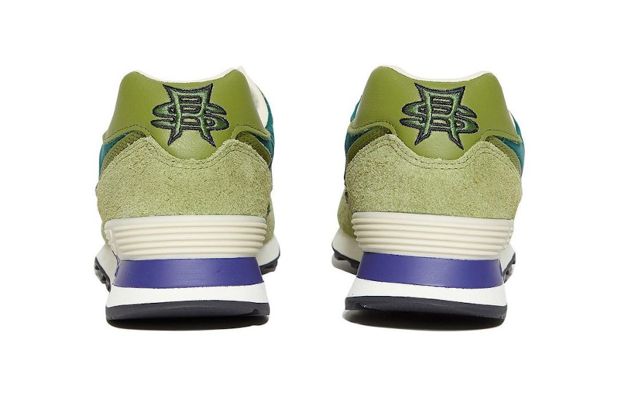 SR x New Balance 574 vert et violet (2)