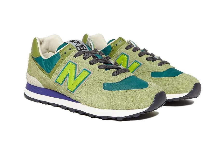 SR x New Balance 574 vert et violet (3)