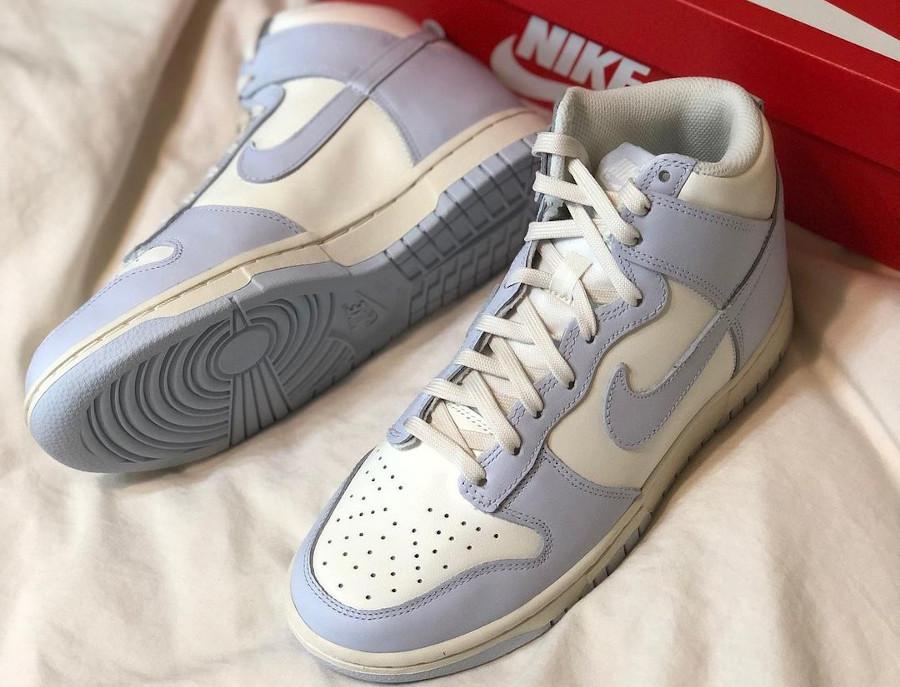 Womens Nike Dunk montante 2021 gris bleu (2)