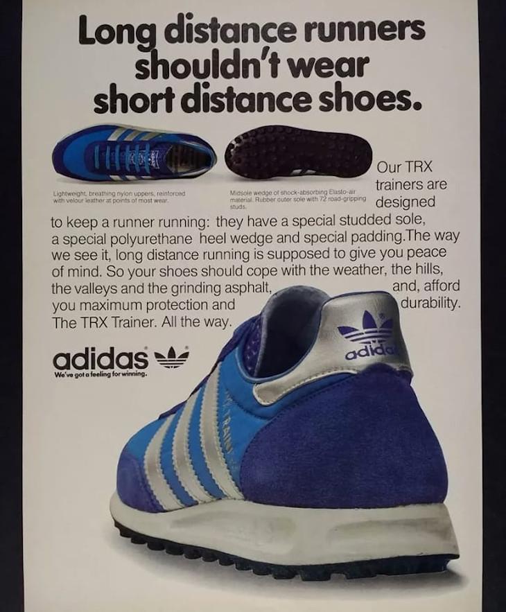 publicité adidas trx runner 1970
