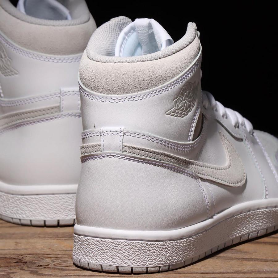 AJ1 Hi grise et blanc (3)