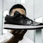 Air Jordan 1 Low SE Patent Leather 'ASW' Black White