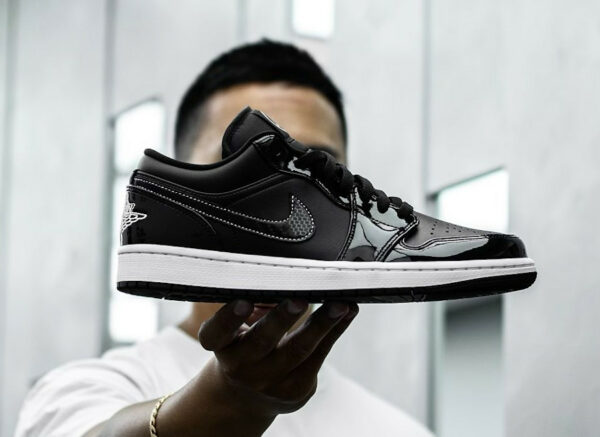 AJ1 Low SE Patent Leather ASW Black White DD1650-001