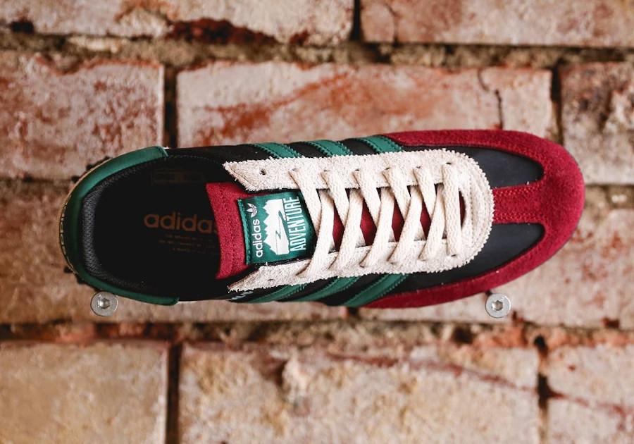 Adidas Adventure Handball Spezial noir bordeaux et vert (2)