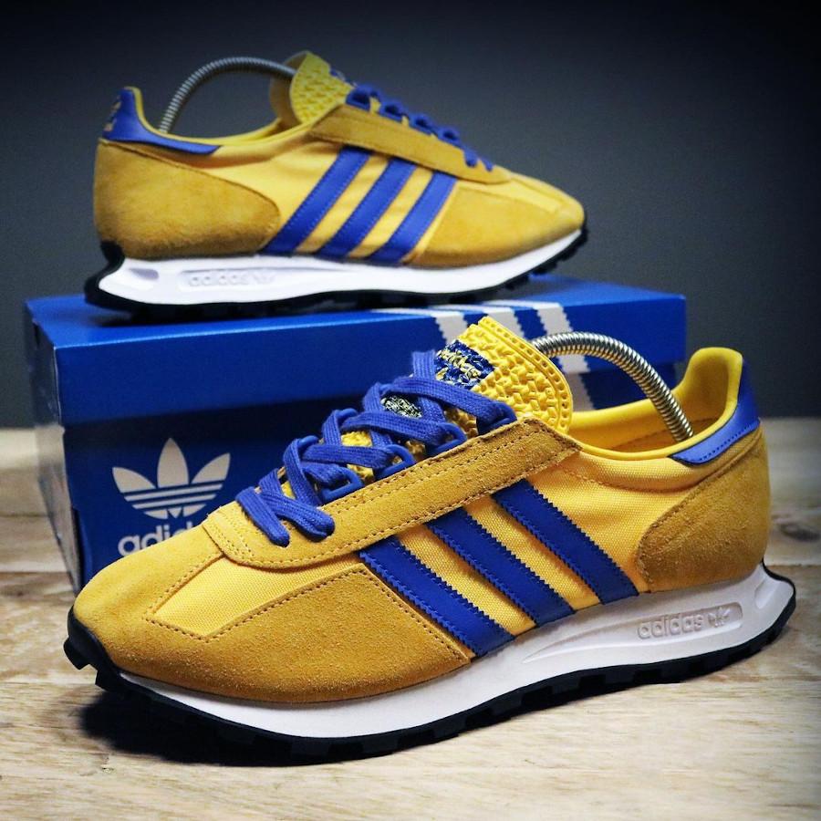 Adidas Racing jaune et bleue (2)