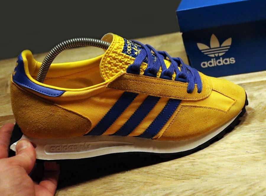 Adidas Racing jaune et bleue (3)