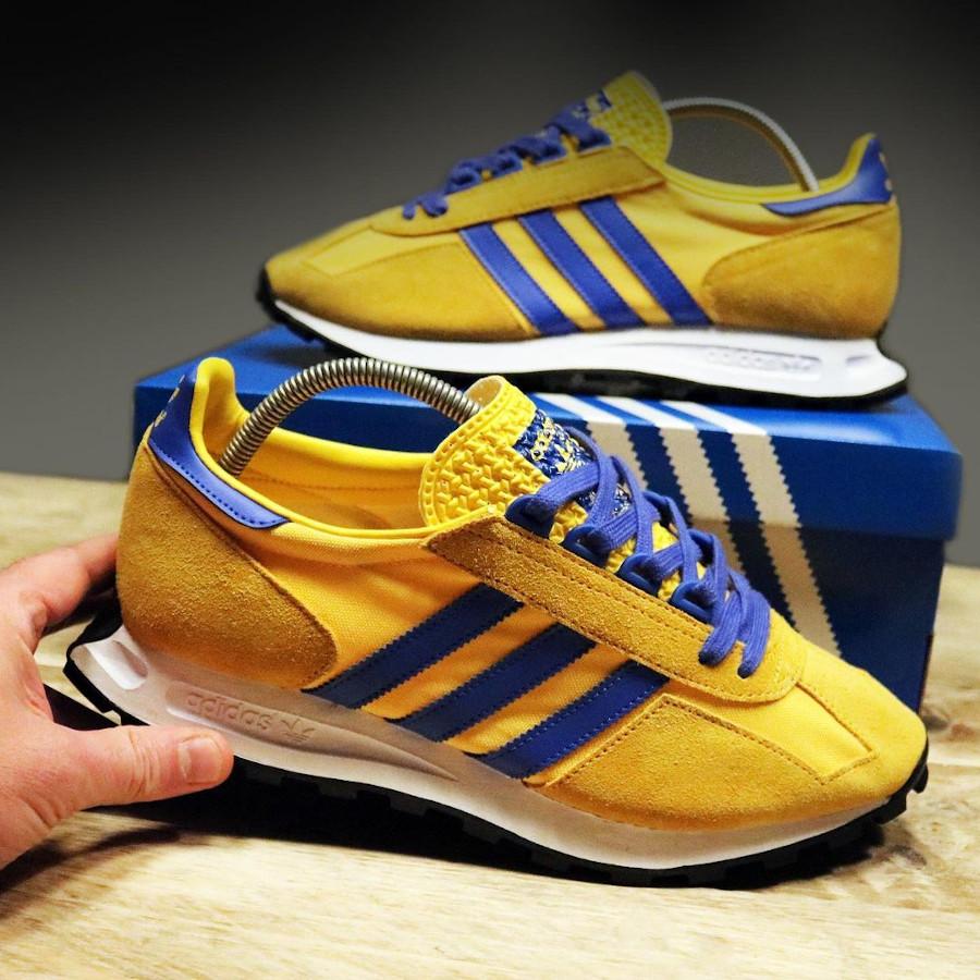 Adidas Racing jaune et bleue (4)