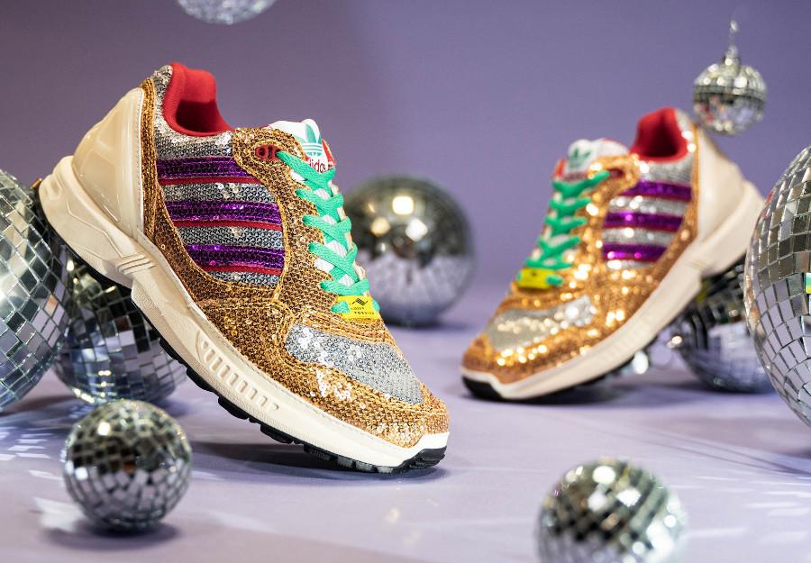Adidas Wmns ZX 6000 paillettes doré et argent métallique (1)