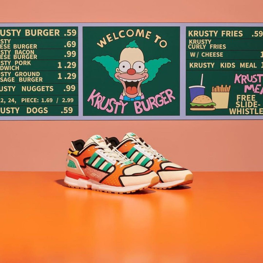 Adidas ZX 10000 C AZX Simpsons Krusty Burger H05783