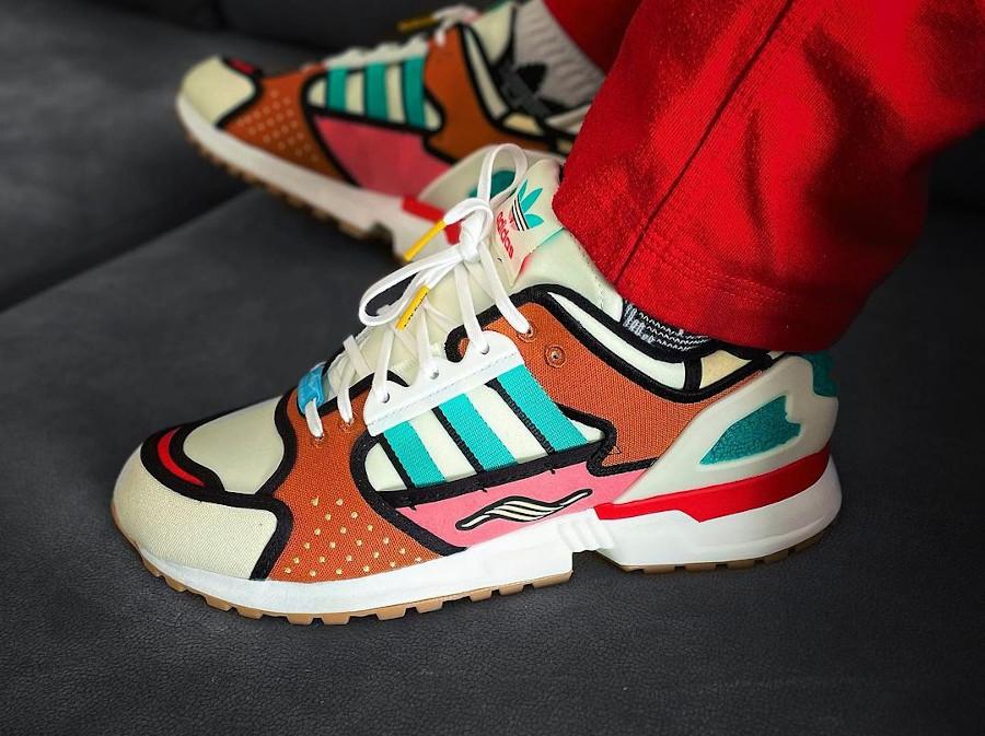Adidas ZX10000 Crusty Le Clown on feet