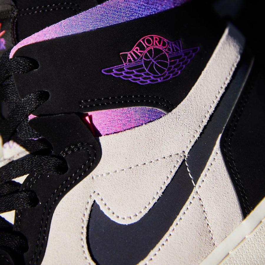 Air Jordan 1 Comfort Paname rose et violet (1)