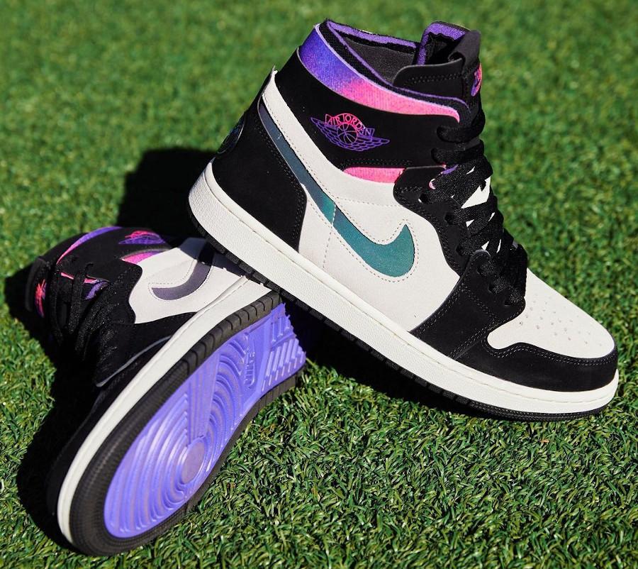 Air Jordan 1 Comfort Paname rose et violet (2)
