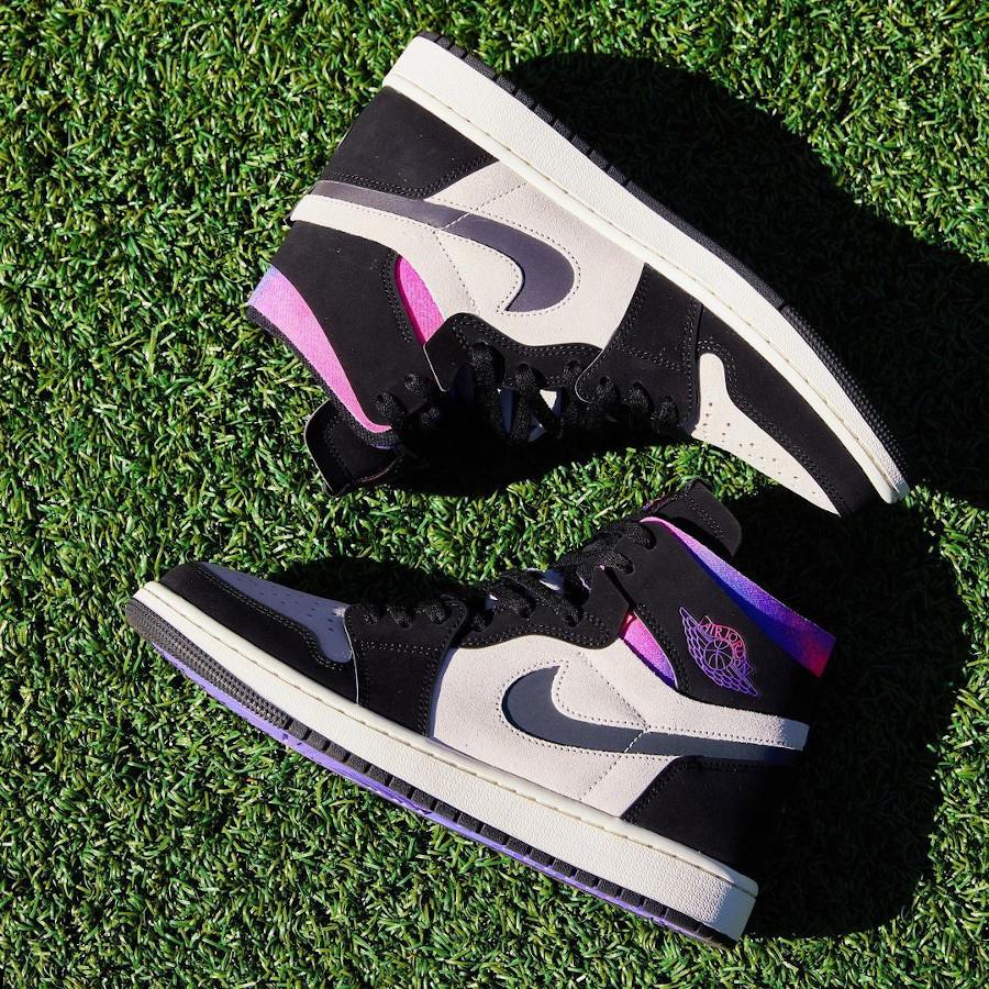 Air Jordan 1 Comfort Paname rose et violet (3)