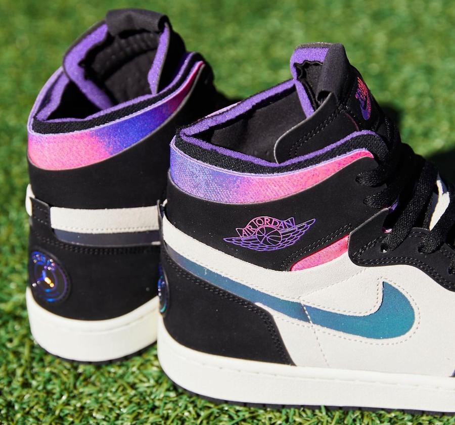 Air Jordan 1 Comfort Paname rose et violet (4)