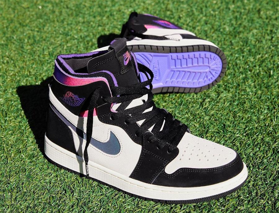 Air Jordan 1 Comfort Paname rose et violet (5)
