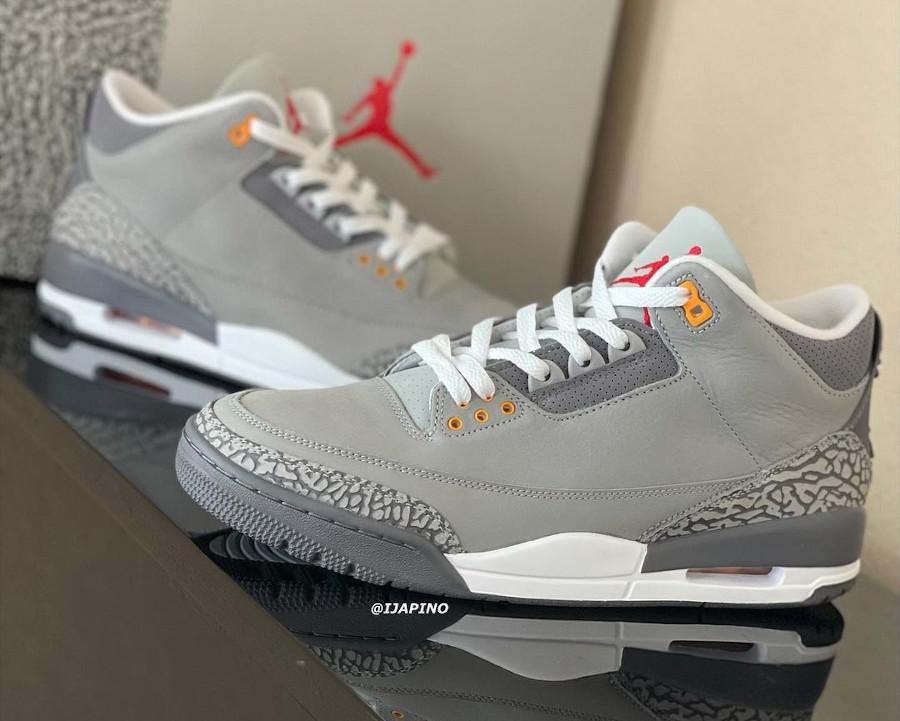 Air Jordan 3 en suède gris (elephant print) (2)