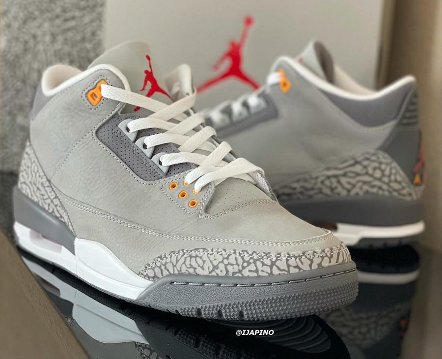 Air Jordan 3 en suède gris (elephant print) (3)