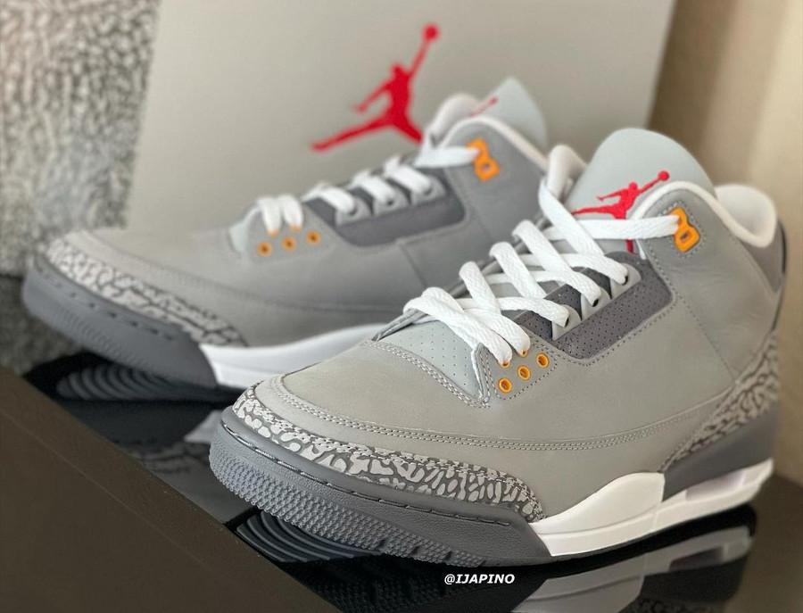 Air Jordan 3 en suède gris (elephant print) (4)