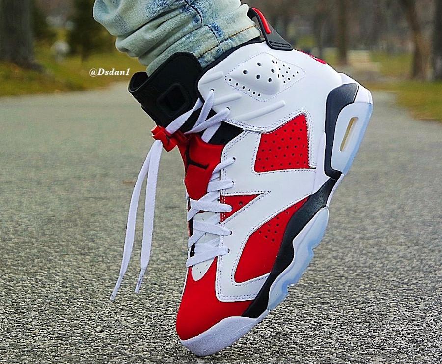Air Jordan VI OG Remasteeed blanche et rouge (4)