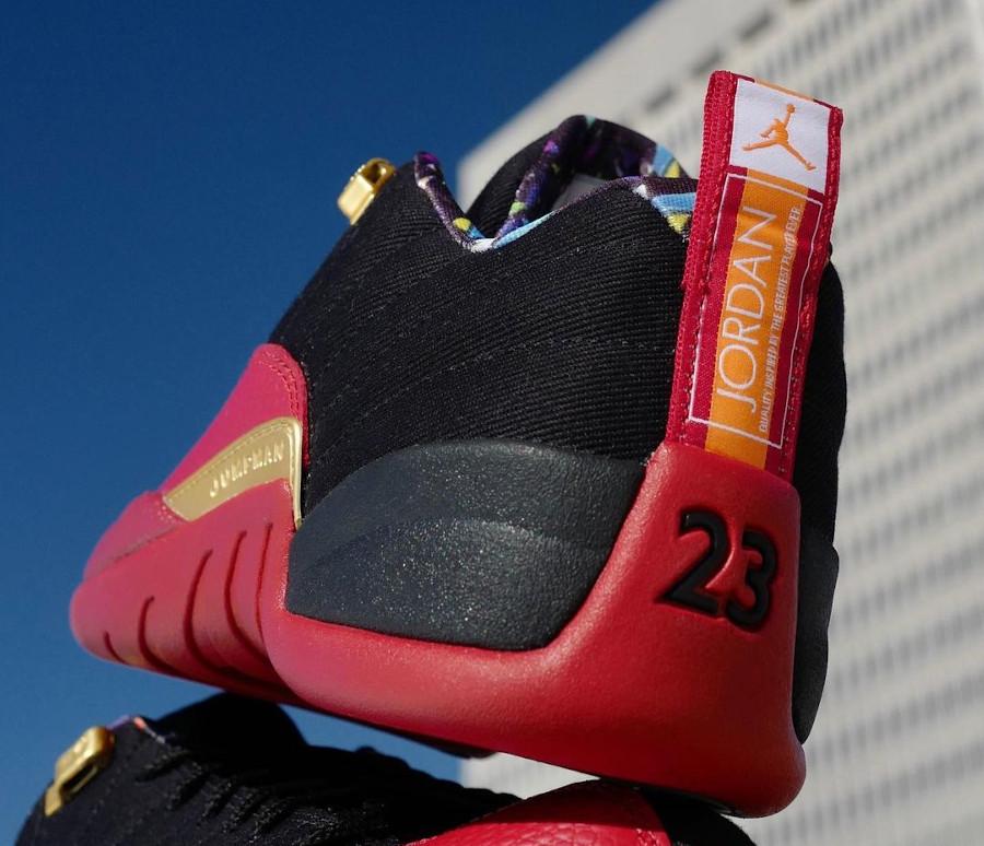 Air Jordan 12 basse rouge et noire 2021 (2)