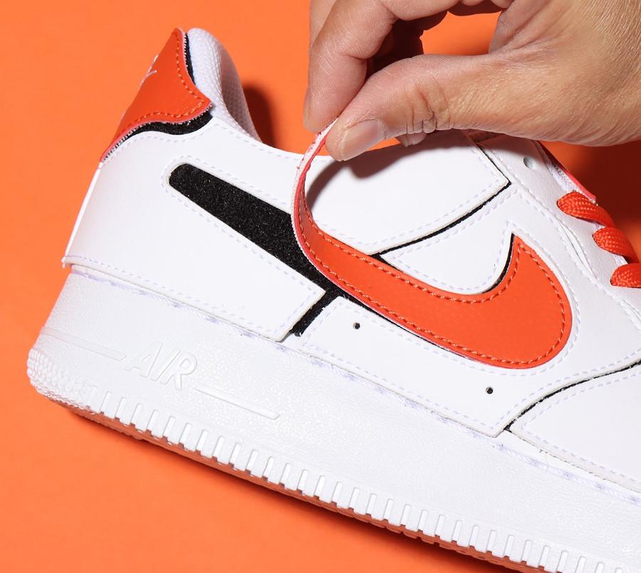 Nike AF1 2021 blanche logo Swoosh interchangeables (1-1)