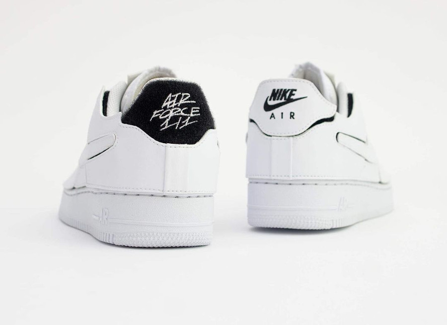 Nike AF1 2021 blanche logo Swoosh interchangeables (5)