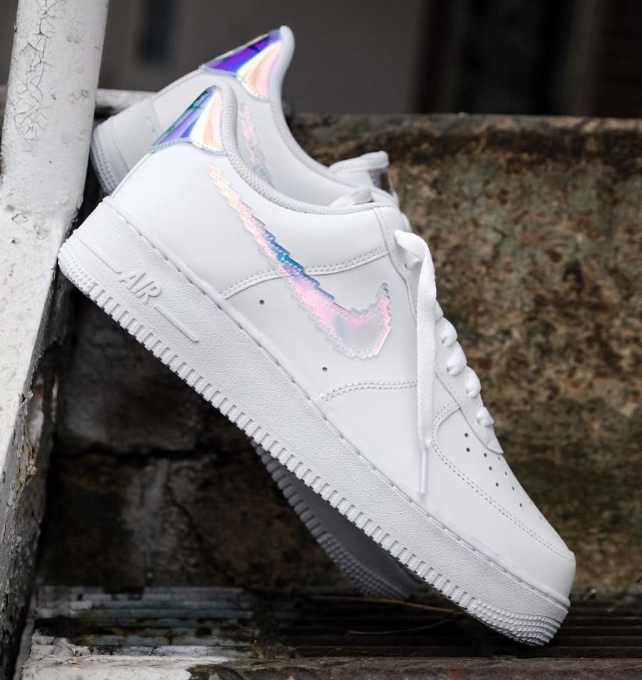 Nike Air Force 1 Low blanche multicolore (virgule pixelisée) (2)