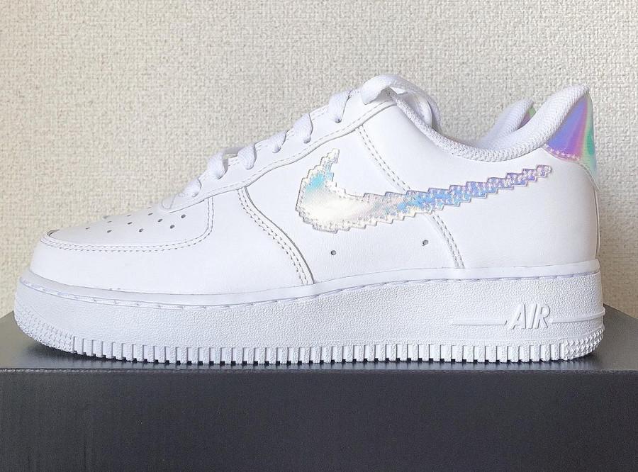 Nike Air Force 1 Low blanche multicolore (virgule pixelisée) (3)